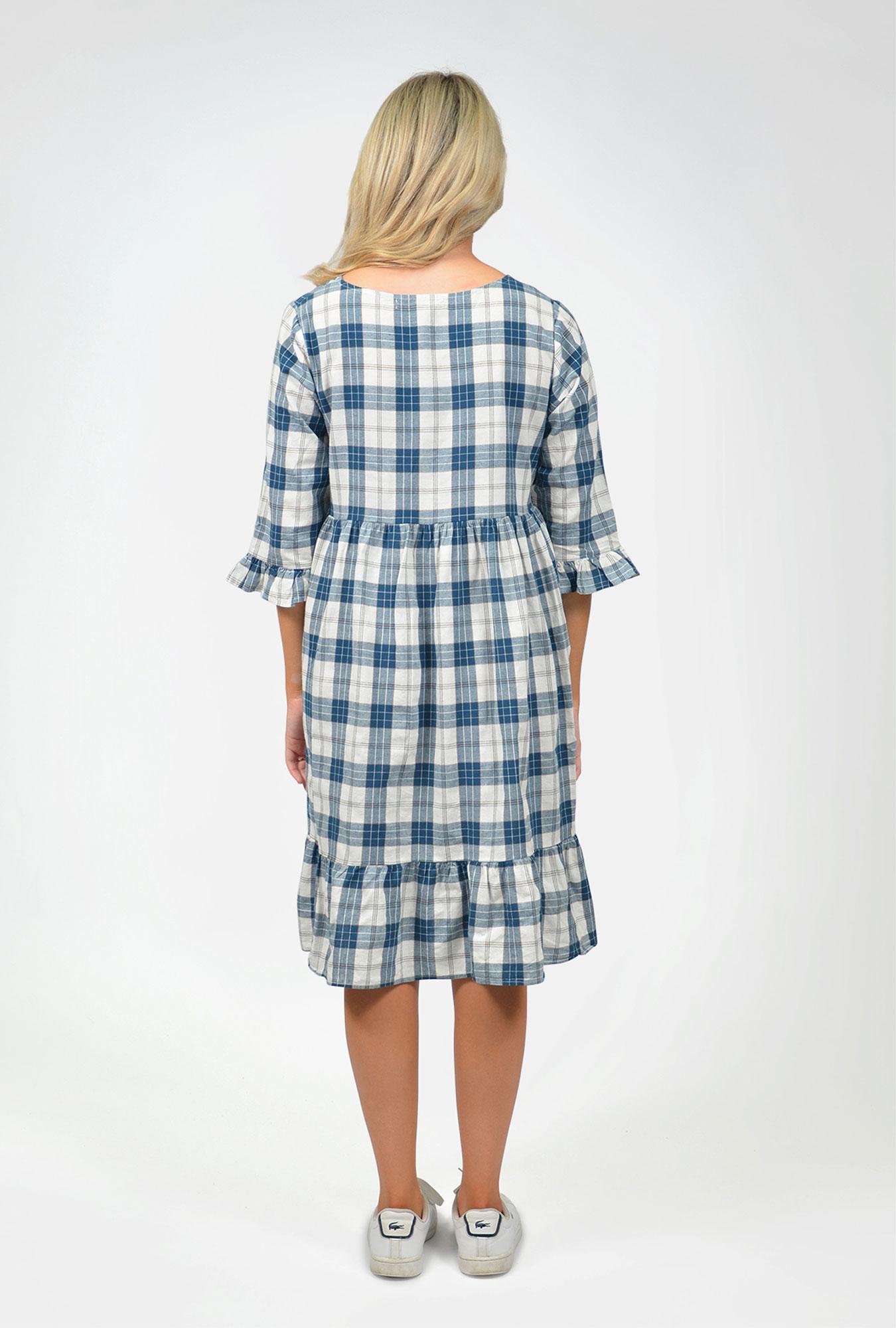 Check smock dress