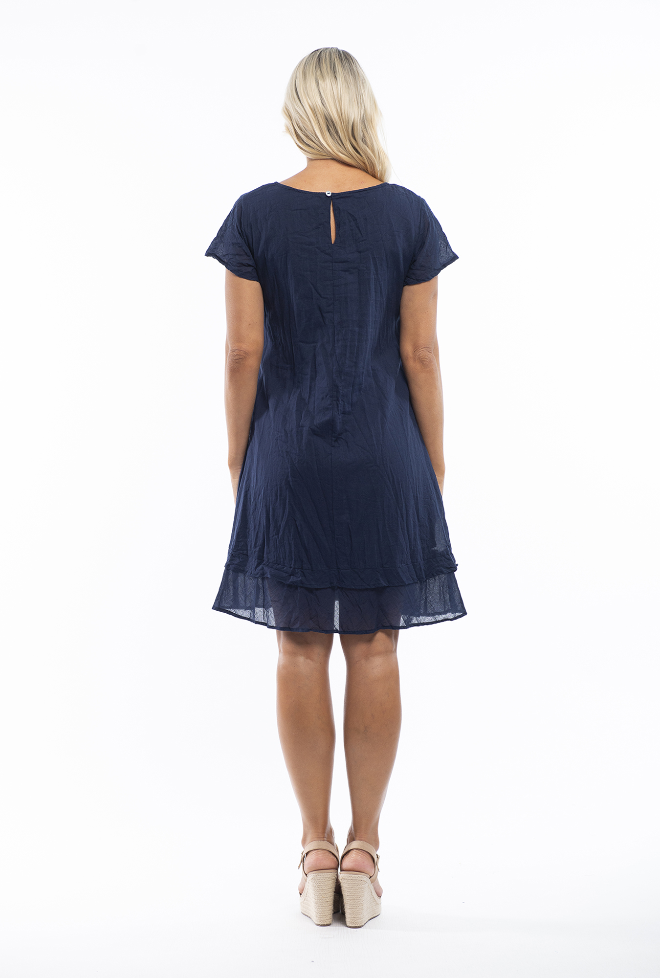 Stacey Dress in Navy