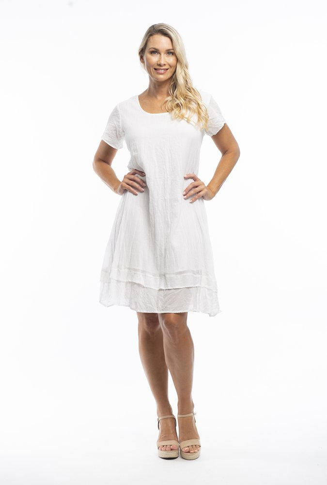 Stacey Dress in White