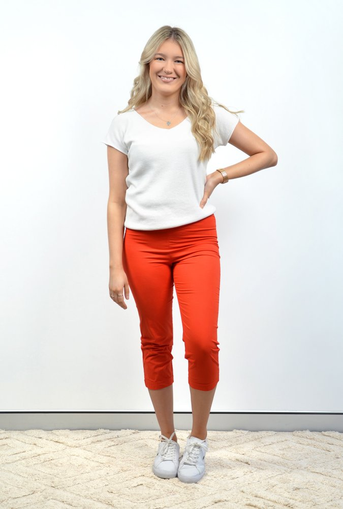 Stacey V Tee in White
