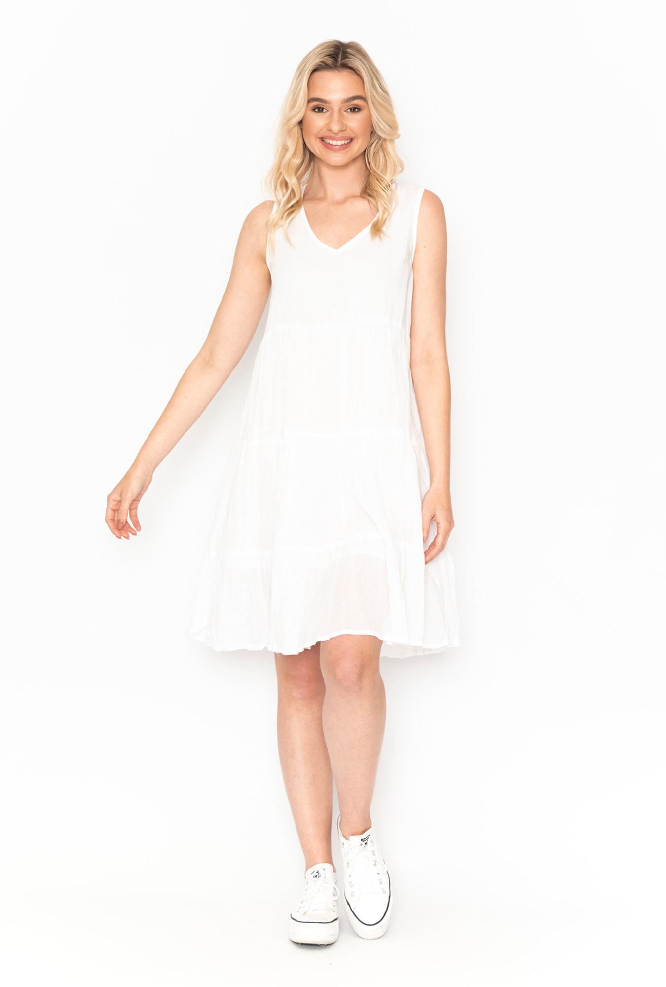 Stella Ombre Dress in White