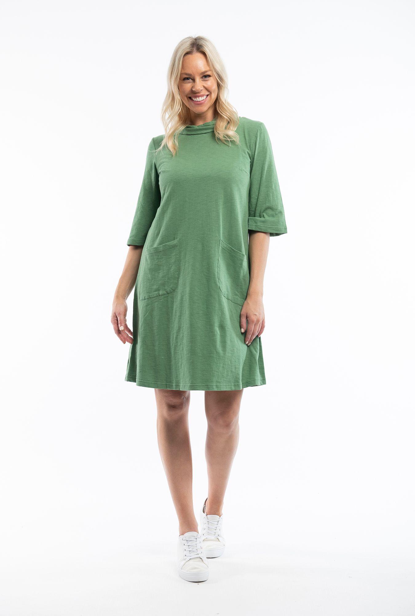 Olive Cowel Dress