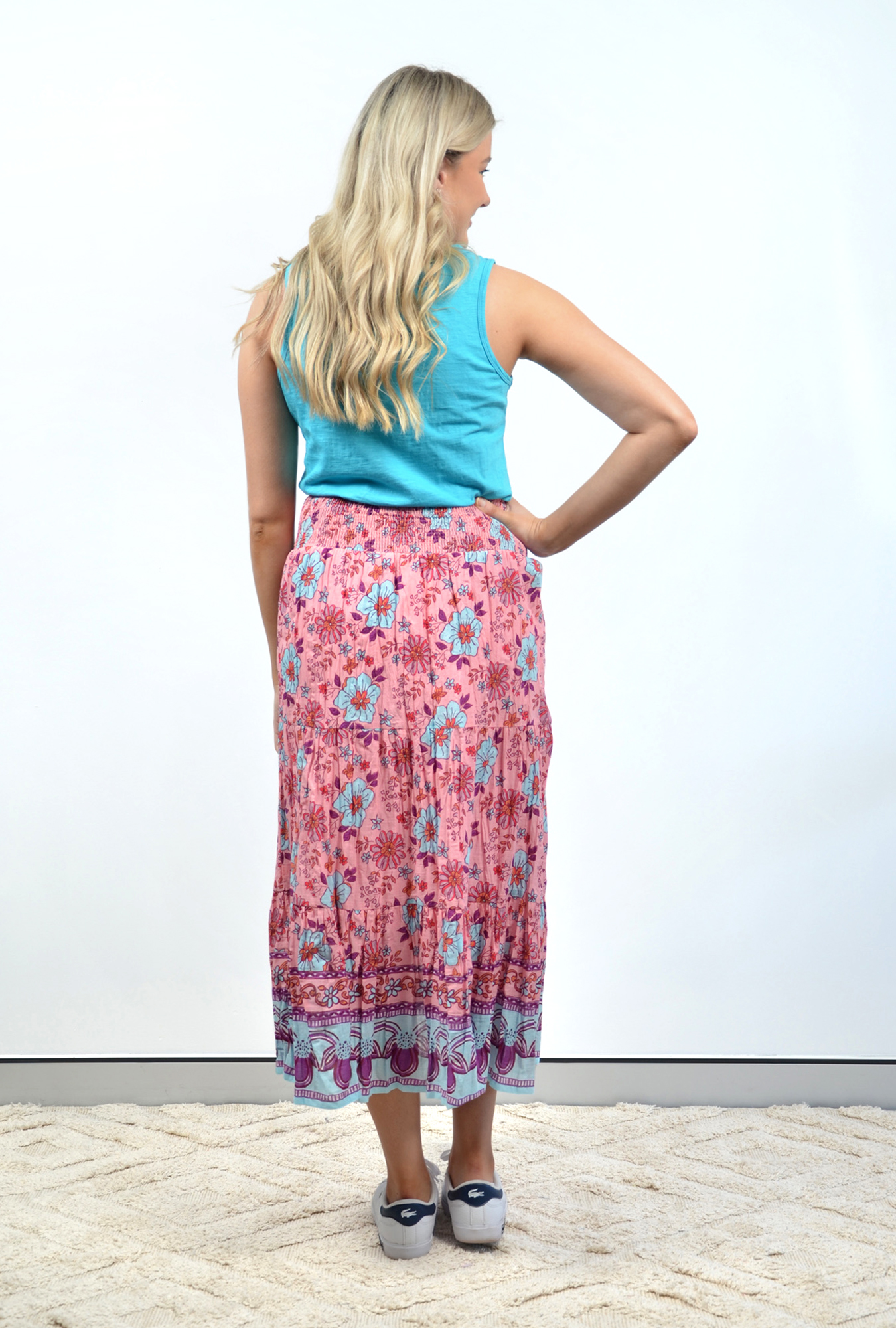 Willow Skirt in Pink Paisley