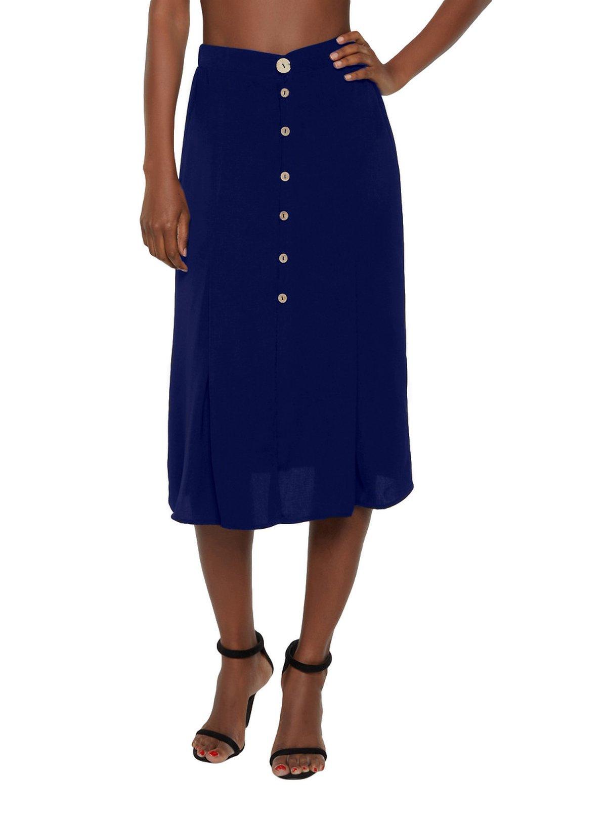 A-Line Below Knee Skirt in Royal Blue