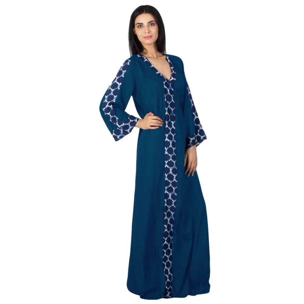 Anghrakha Style Wrap Maxi Nighty in Sky Blue