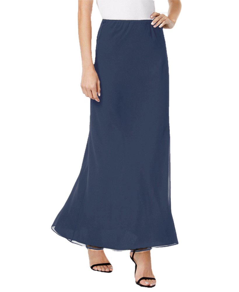 Ankle Length Flared Skirt in Charcoal Grey