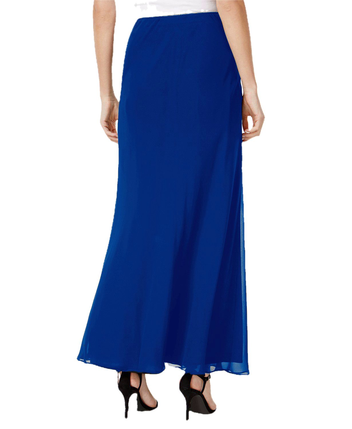 Ankle Length Flared Skirt in Turquoise Blue