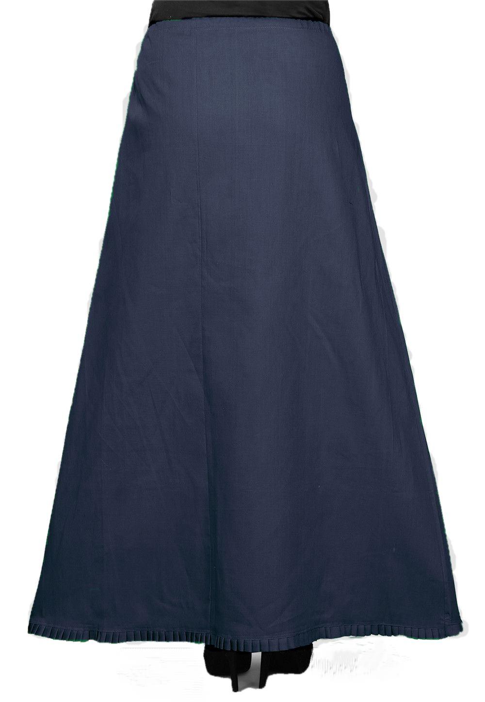 Ankle Length Under Skirt / Petticoat in Dark Blue