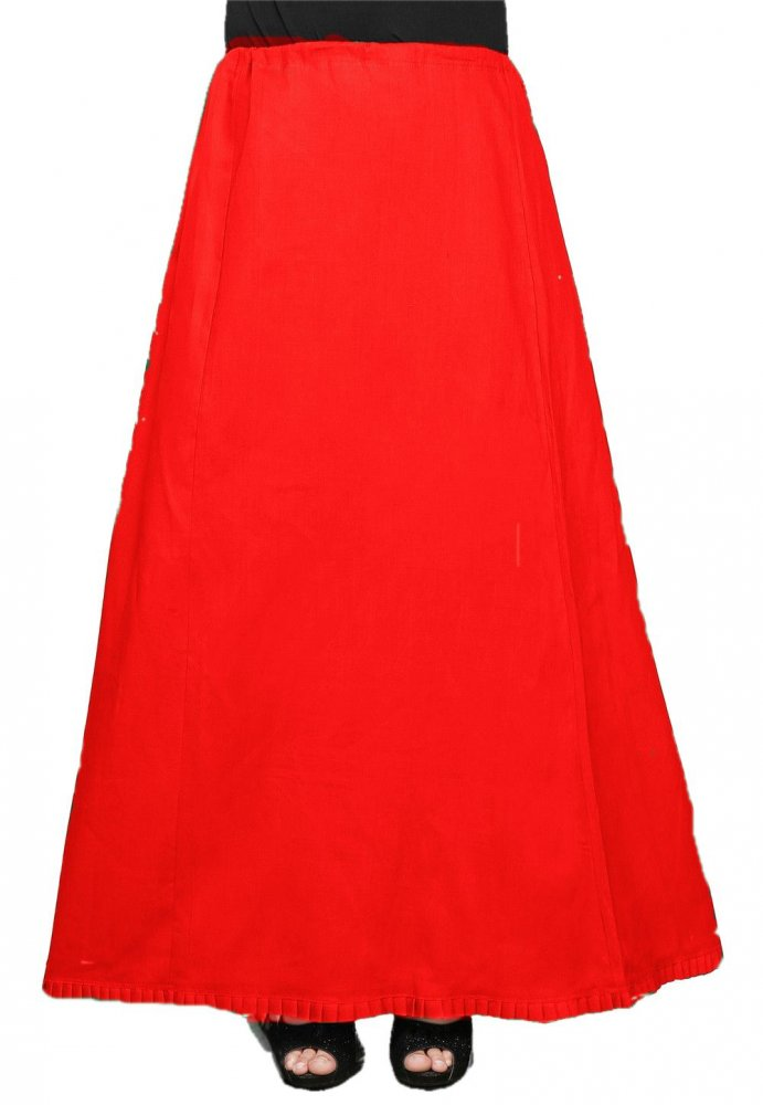 Ankle Length Under Skirt / Petticoat in Red