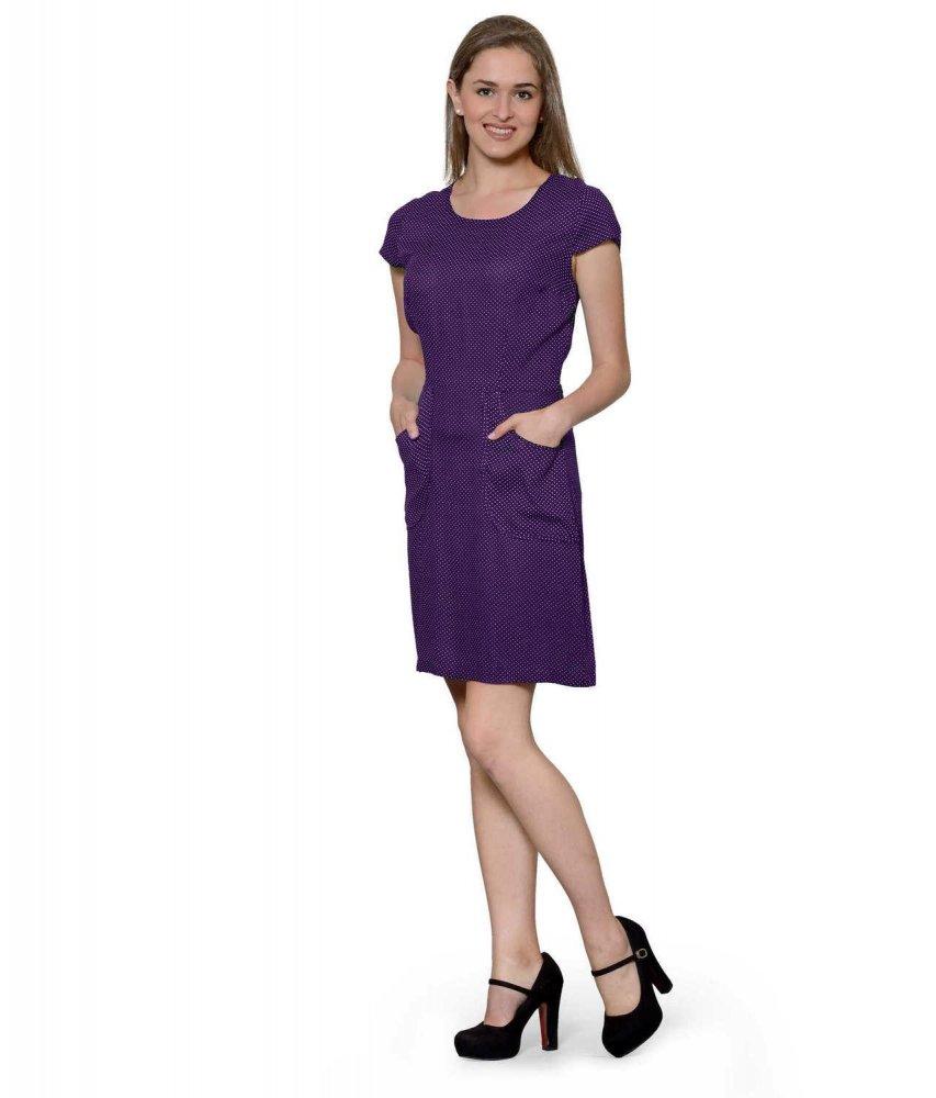 Bodycon Cocktail Mini Dress in Purple Polka Dot
