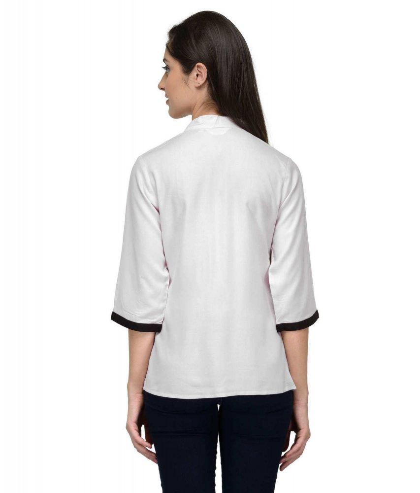 Button Down Collar Shirt in White