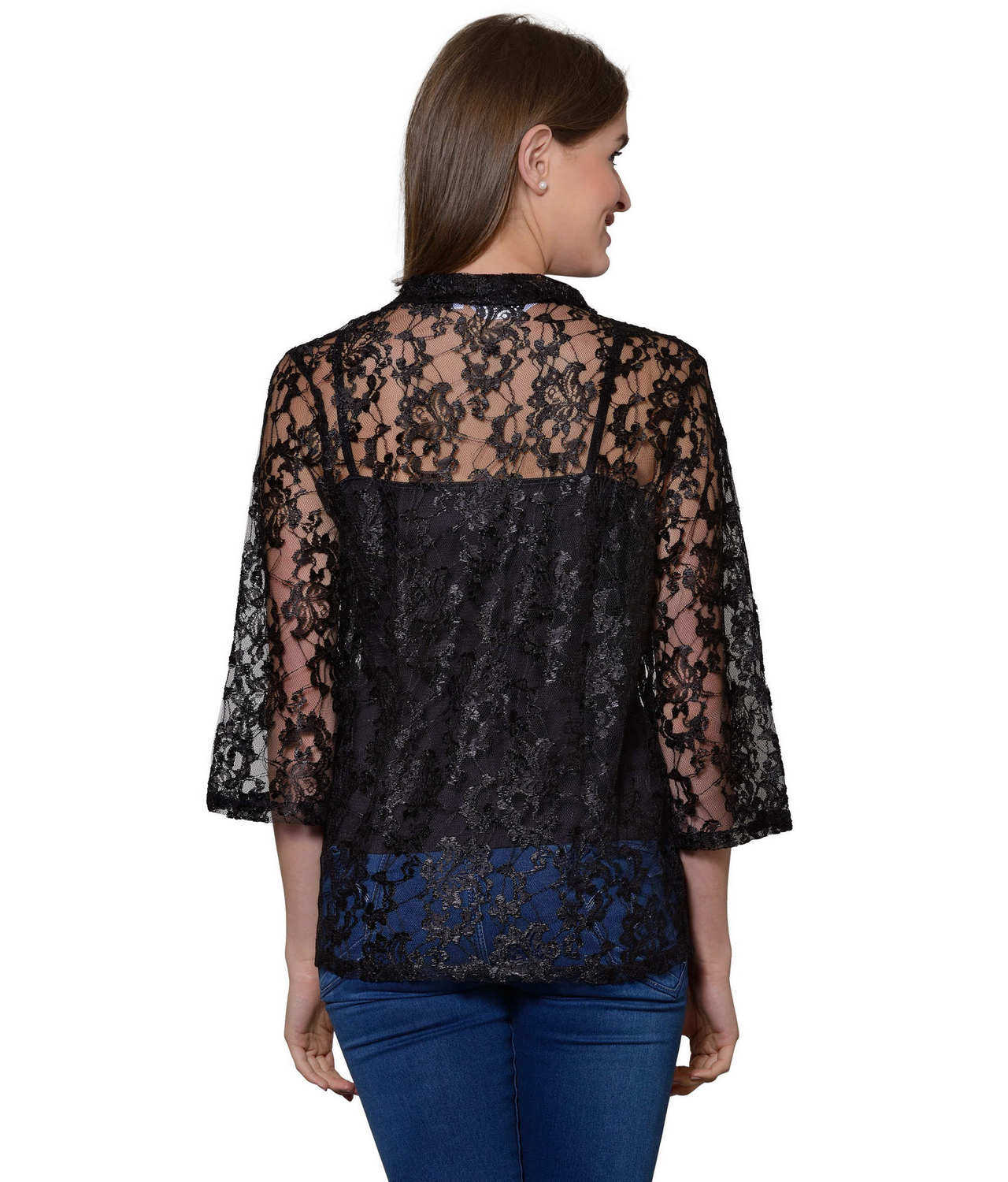 Cami Top with Shrug in Black