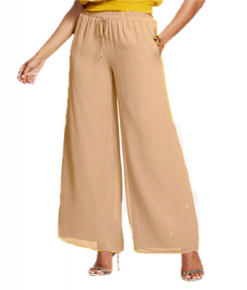 Casual Straight Fit Palazzo Pant in Peach