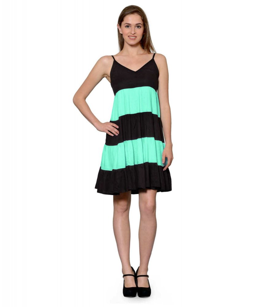 Cocktail Knee Length Dress with Shrug in Black:Teal Green