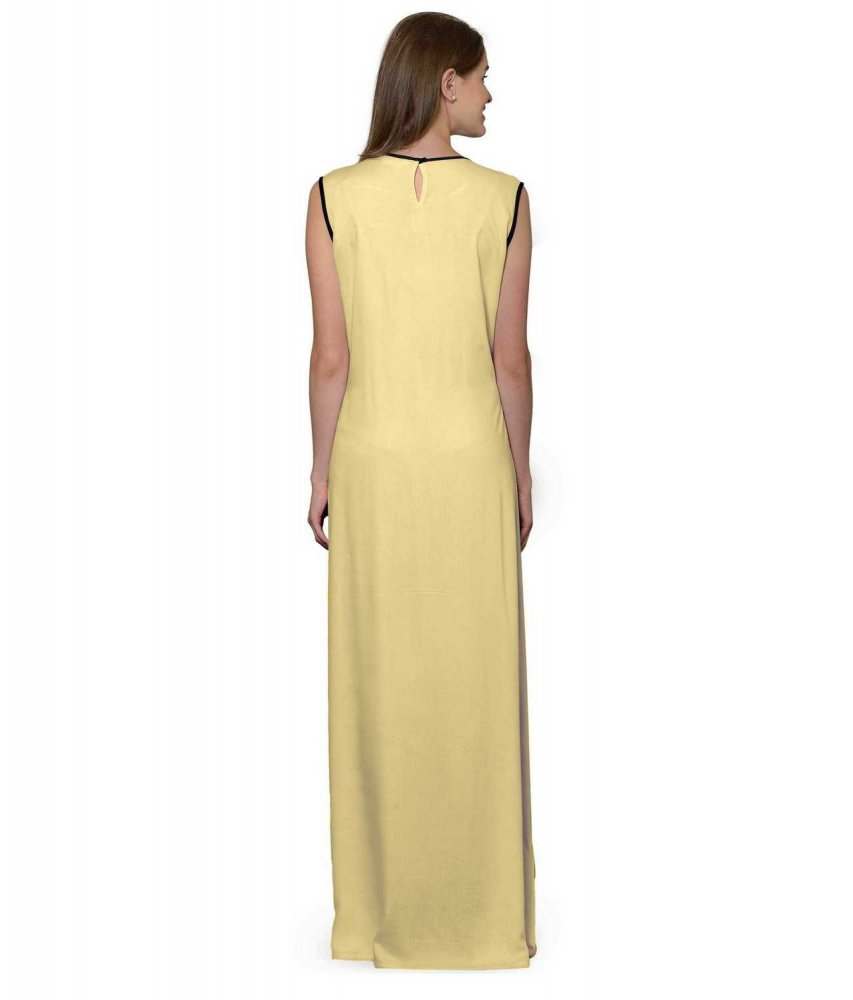 Color Block Maxi Dress or Gown  in Black:Gold