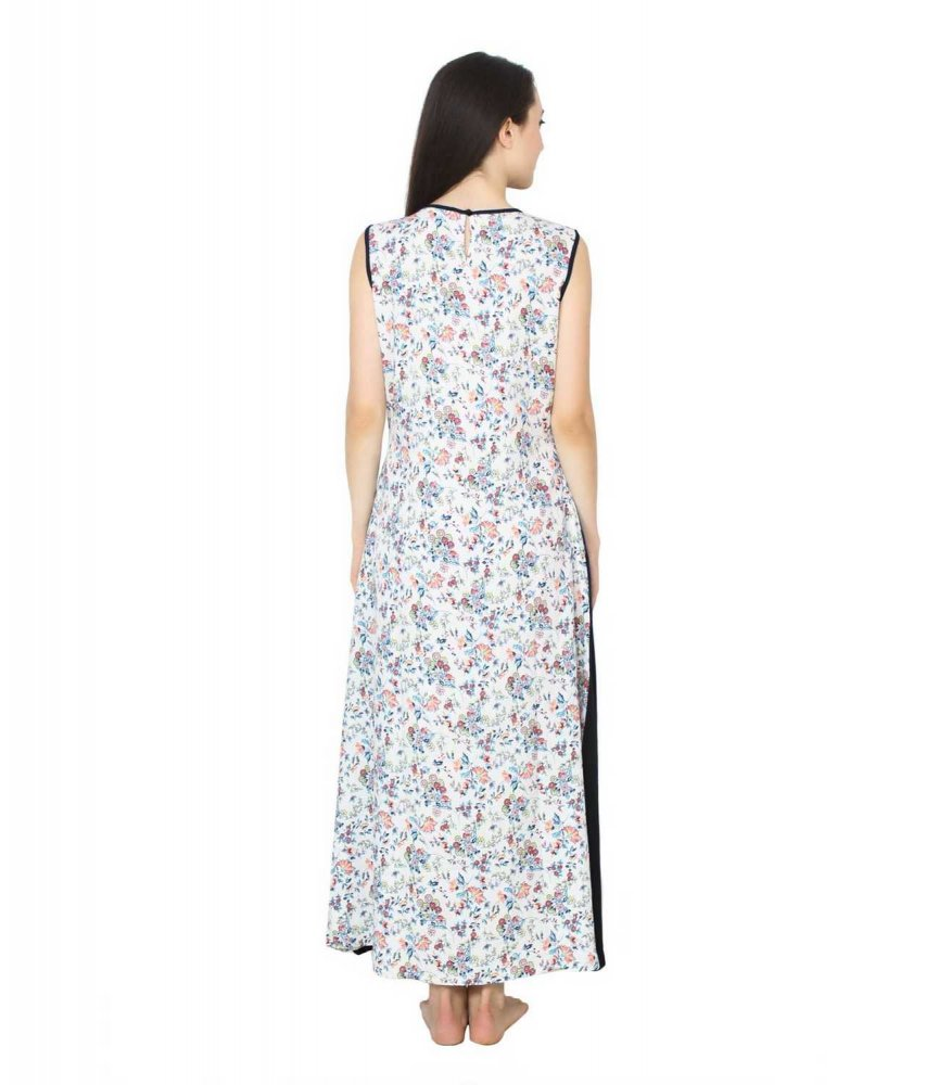 Color Block Maxi Dress or Gown  in Black:Multicolour Print