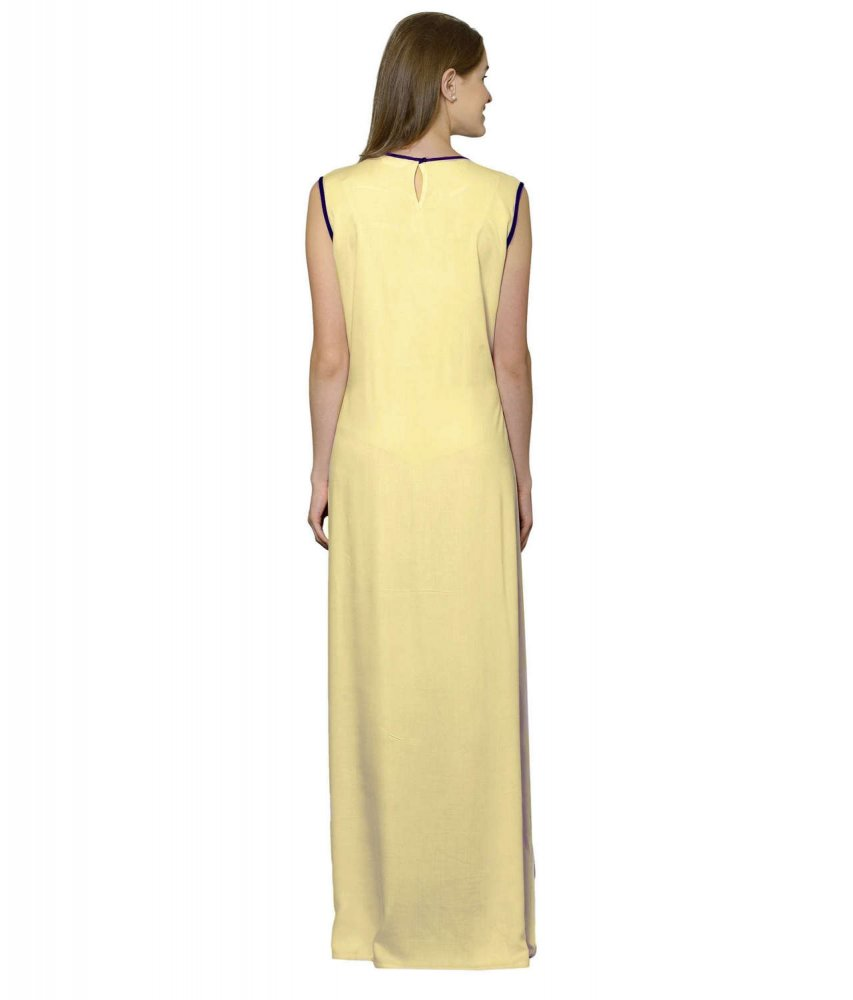 Color Block Maxi Dress or Gown  in Purple:Gold