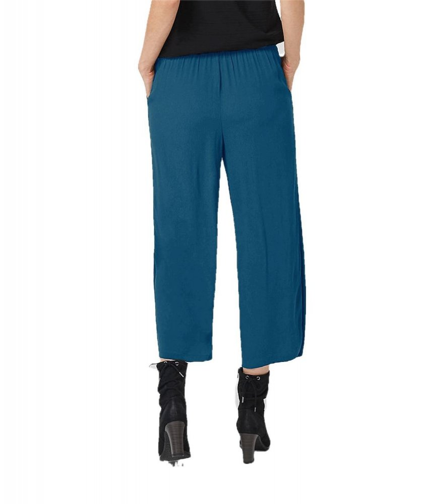Comfort Fit Palazzo Pant in Sky Blue