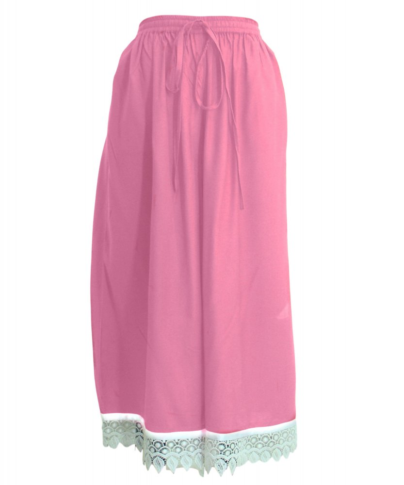 Embellished Regular Fit Palazzo Pant in Baby Pink