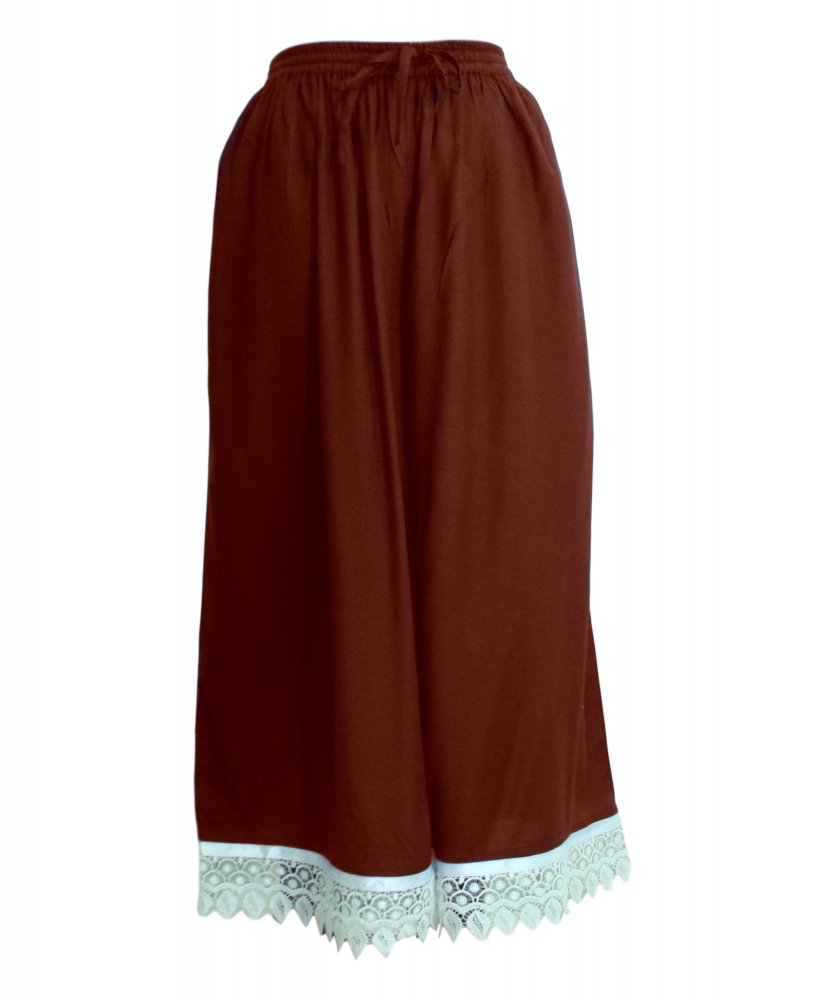 Embellished Regular Fit Palazzo Pant in Maroon
