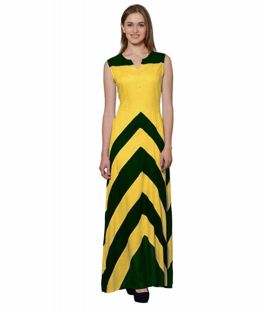 Empire Maxi Dress (Mustard)