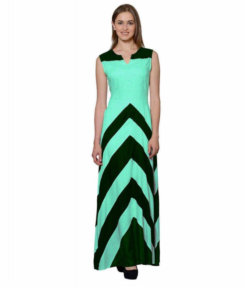 Empire Maxi Dress (Teal Green)