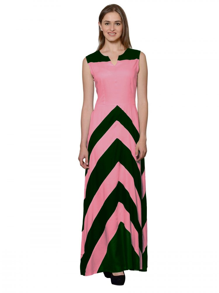 Empire Maxi Dress (Vinyl Hot Pink)