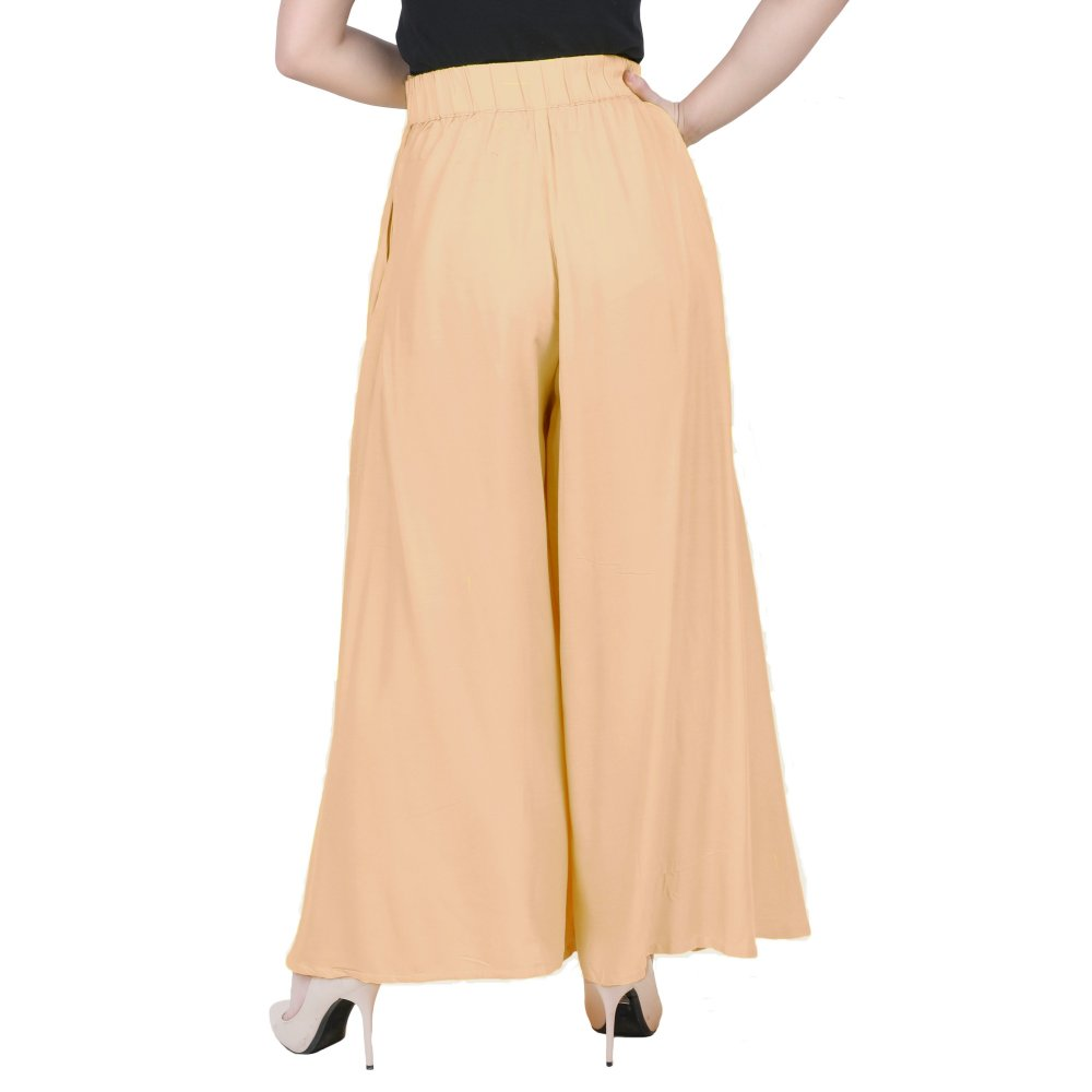 Long Length Fit and Flare Skirt in Peach