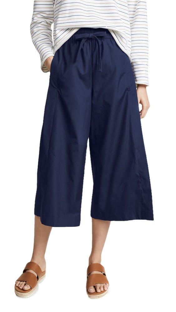 Loose Fit Capri Pant in Dark Blue