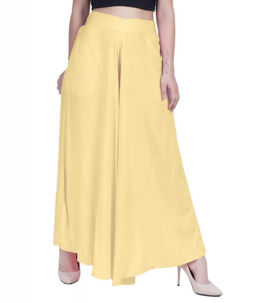 Loose Fit Wide Leg Palazzo Pant in Gold