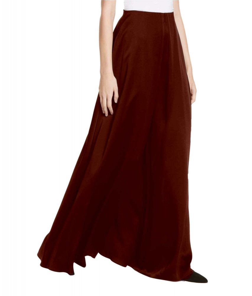 Loose Fit Wide Leg Palazzo Pant in Maroon