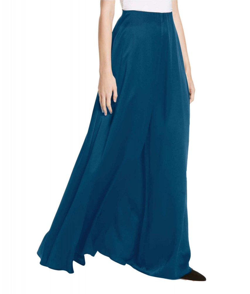 Loose Fit Wide Leg Palazzo Pant in Sky Blue