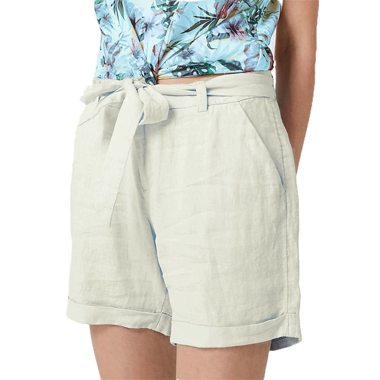 Patrorna Womens Boyfriend Shorts in Off-White