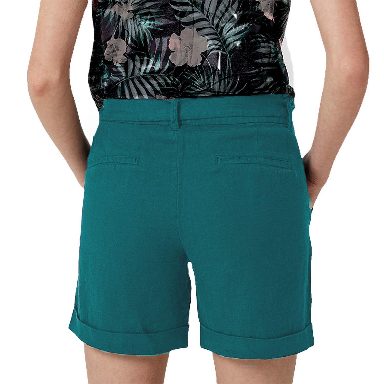 Patrorna Womens Boyfriend Shorts in Rama Green