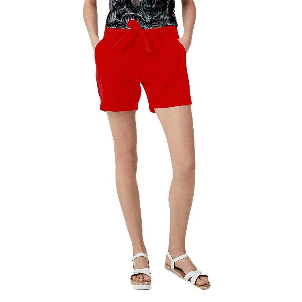 Patrorna Womens Boyfriend Shorts in Red