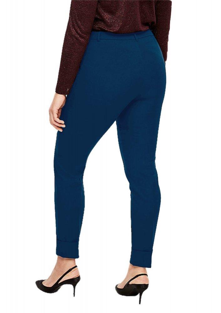 Patrorna Womens Slim Fit Cigarette Trousers (PT8A69_Dark Blue_2XL) in Sky Blue