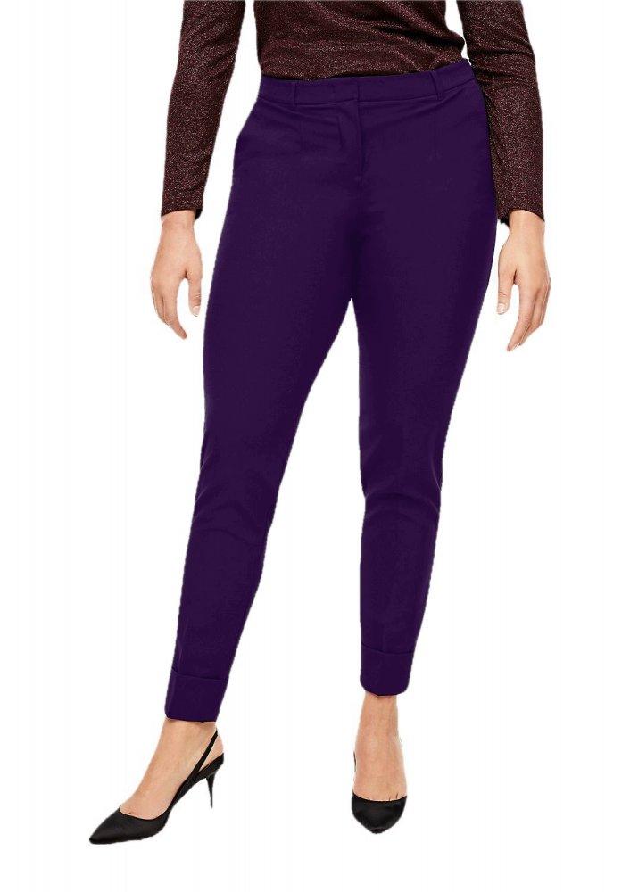 Patrorna Womens Slim Fit Cigarette Trousers (PT8A69_Purple_2XL) in Purple