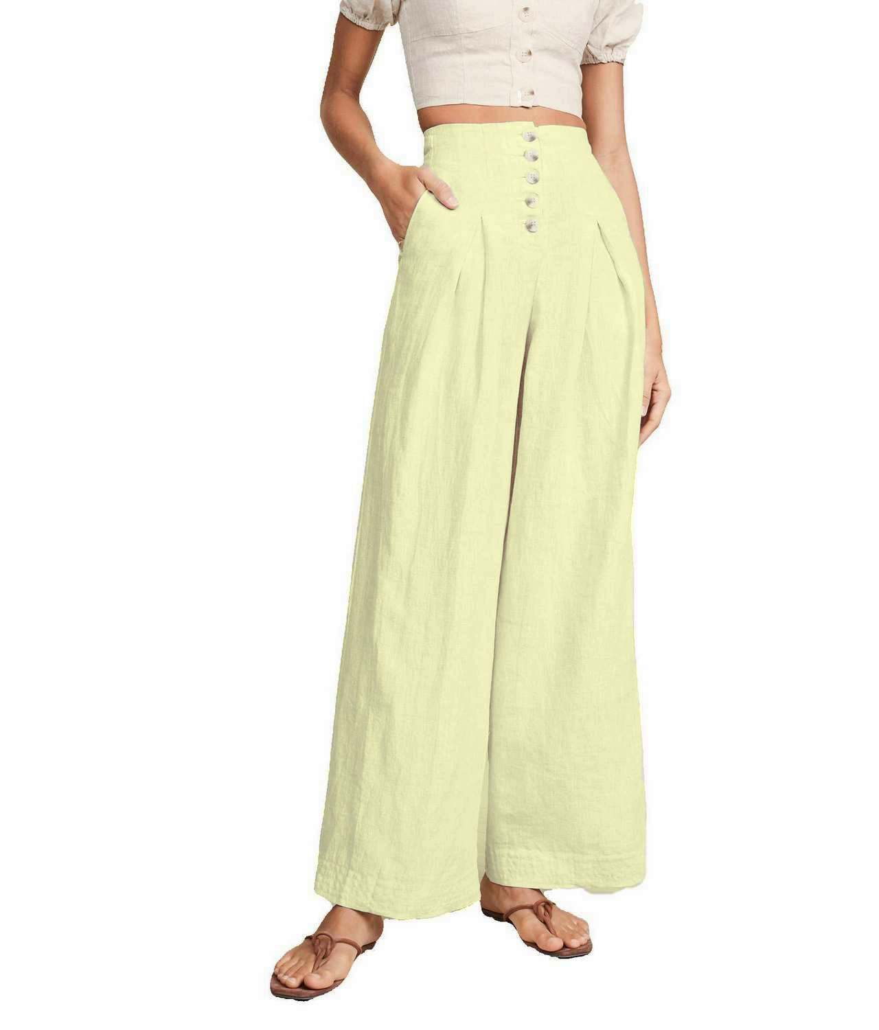 Regular Fit Bootcut Trousers in Cream