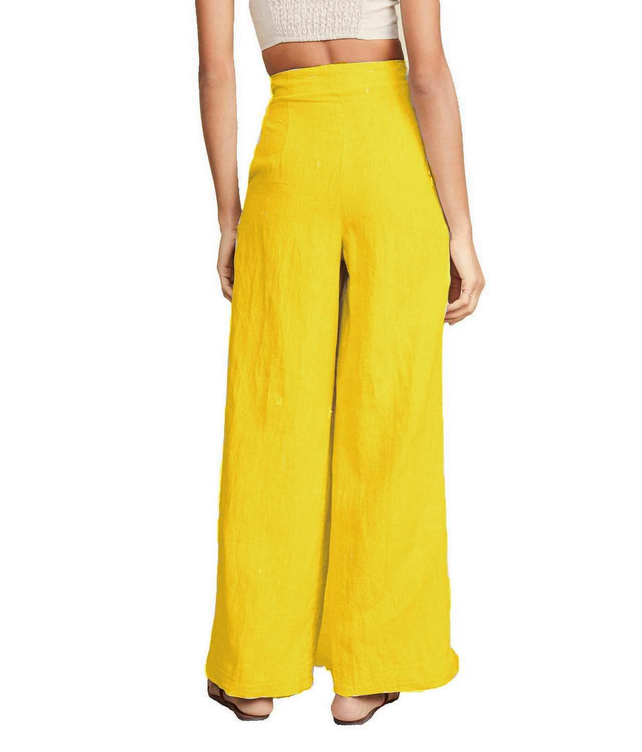 Regular Fit Bootcut Trousers in Mustard