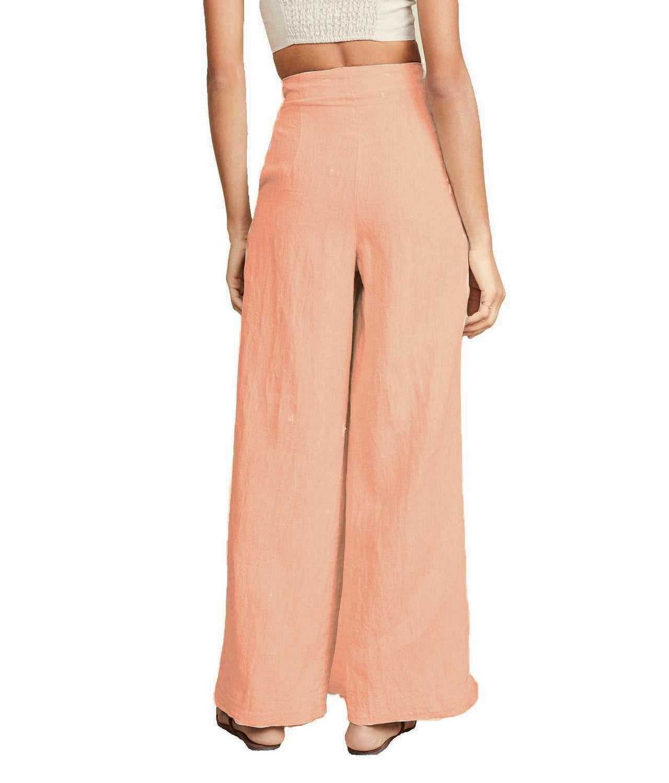 Regular Fit Bootcut Trousers in Peach