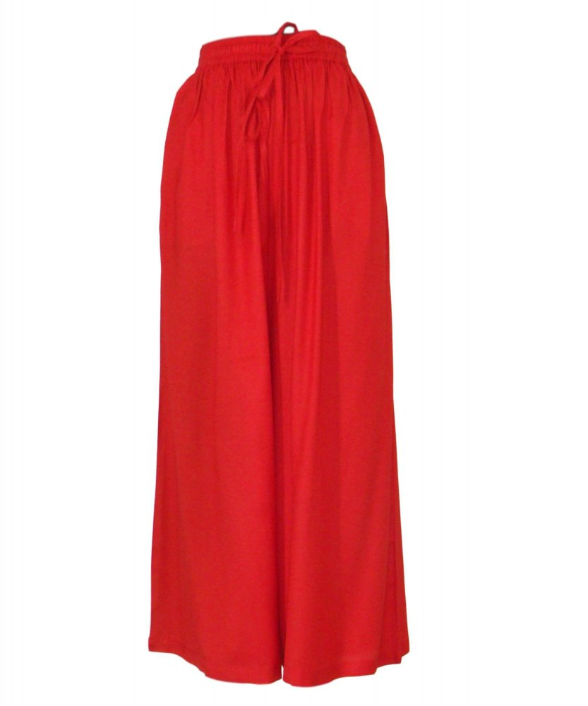 Regular Fit Palazzo Pant in Red