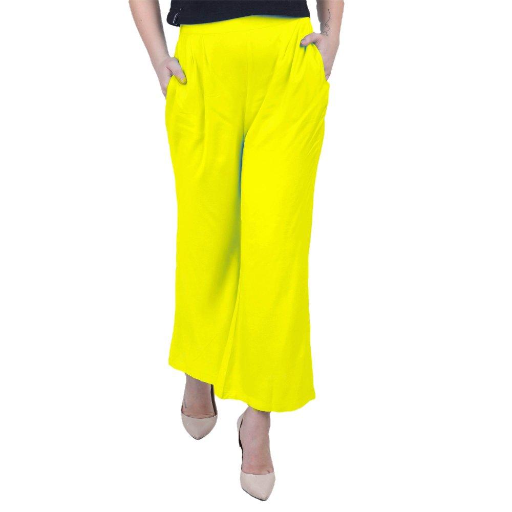 Regular Fit Tie Capri Trouser Pant in Yellow