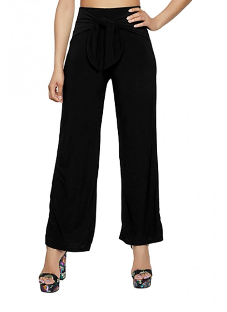 Relaxed Fit Culottes Trousers in Black
