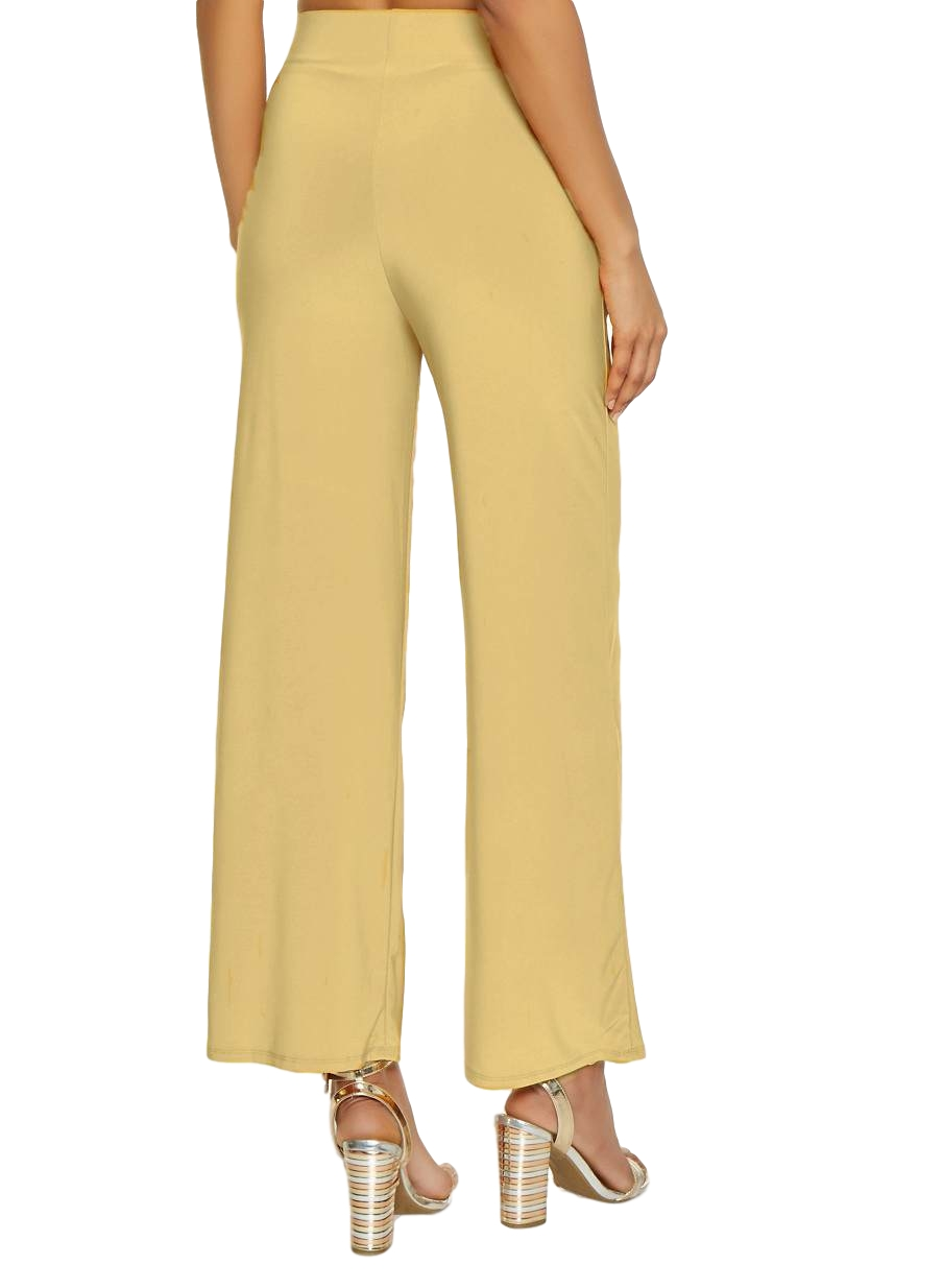 Relaxed Fit Culottes Trousers in Gold