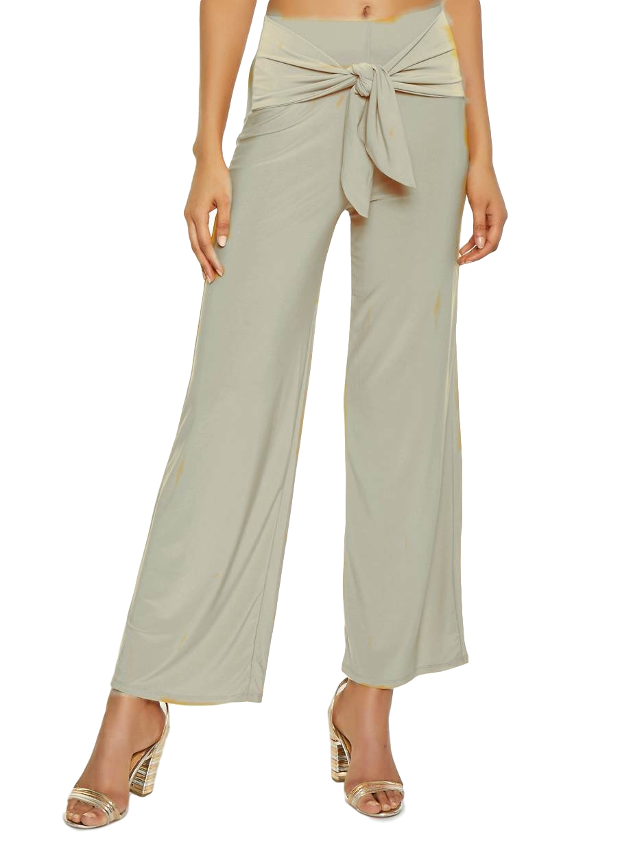 Relaxed Fit Culottes Trousers in Off-White
