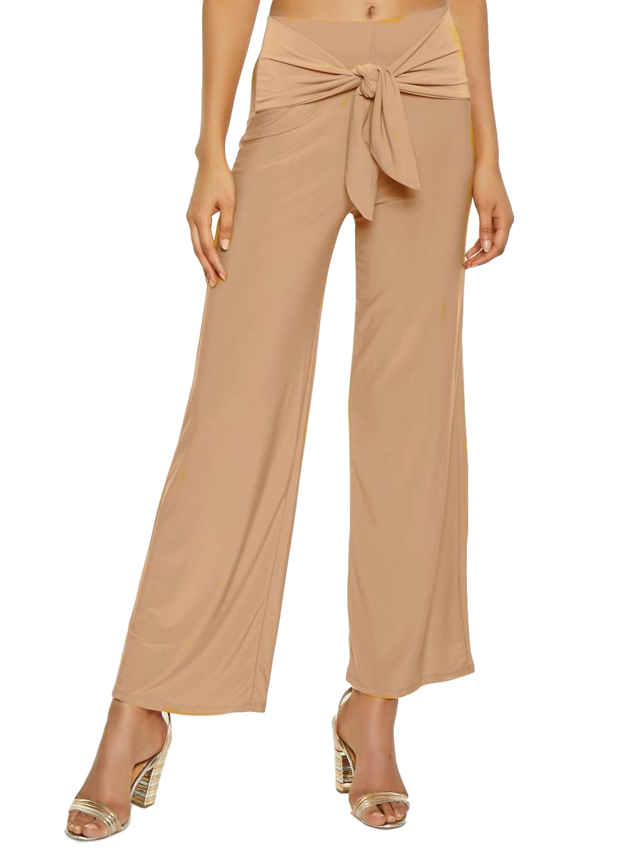 Relaxed Fit Culottes Trousers in Peach