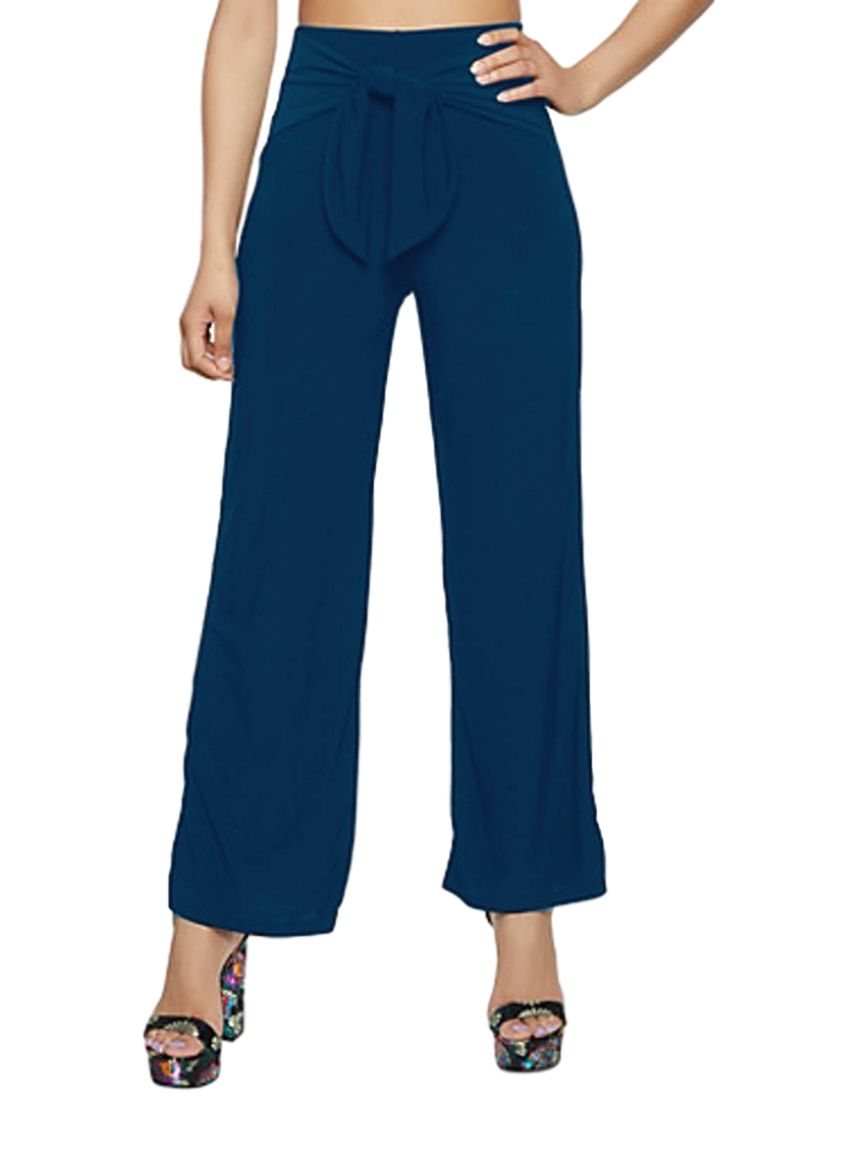 Relaxed Fit Culottes Trousers in Sky Blue