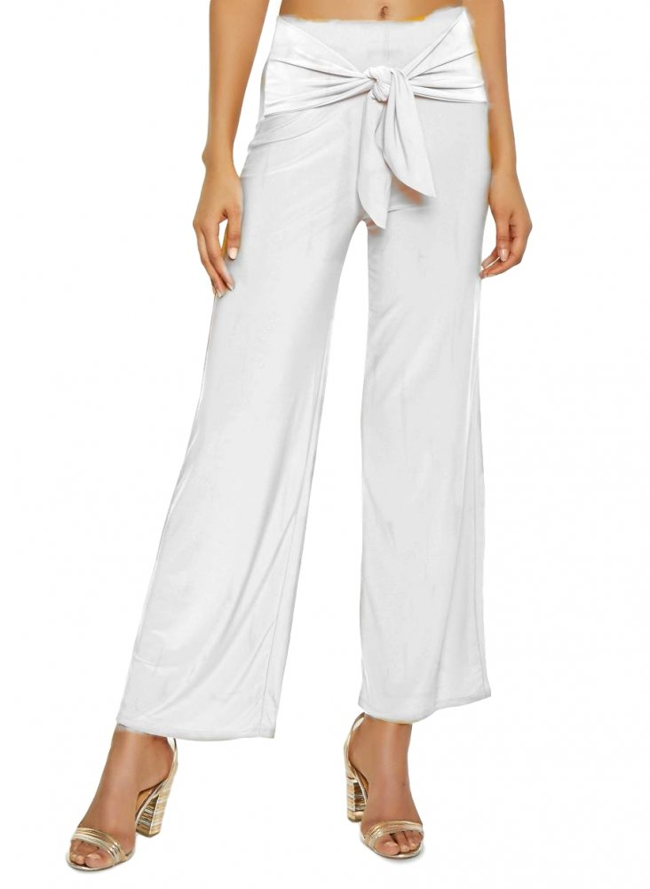 Relaxed Fit Culottes Trousers in White