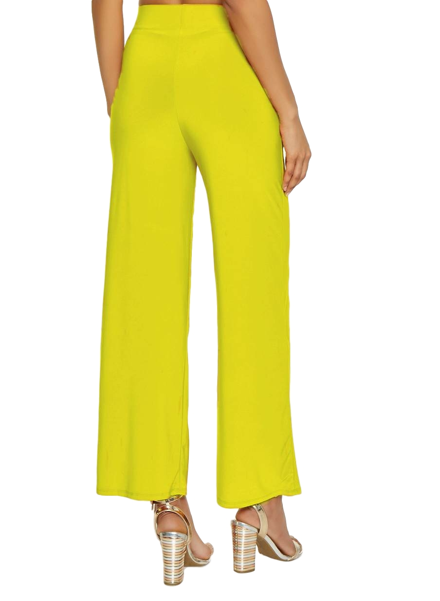 Relaxed Fit Culottes Trousers in Yellow