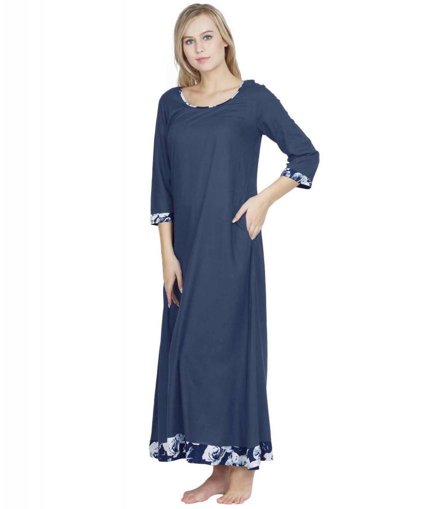 Shift Style Maxi Nighty in Charcoal Grey